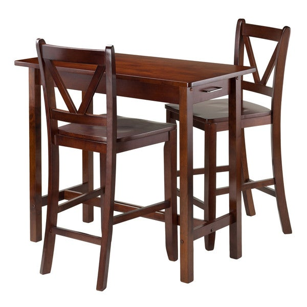 Shop Winsome 3-piece Island Kitchen Table With 2 V-back