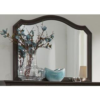 Berkley Heights Antique Washed Walnut Mirror - Brown