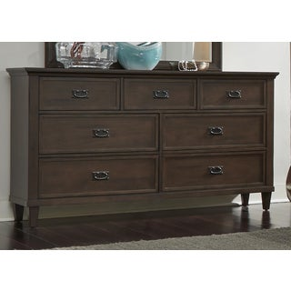 Berkley Heights Antique Washed Walnut 7-Drawer Dresser