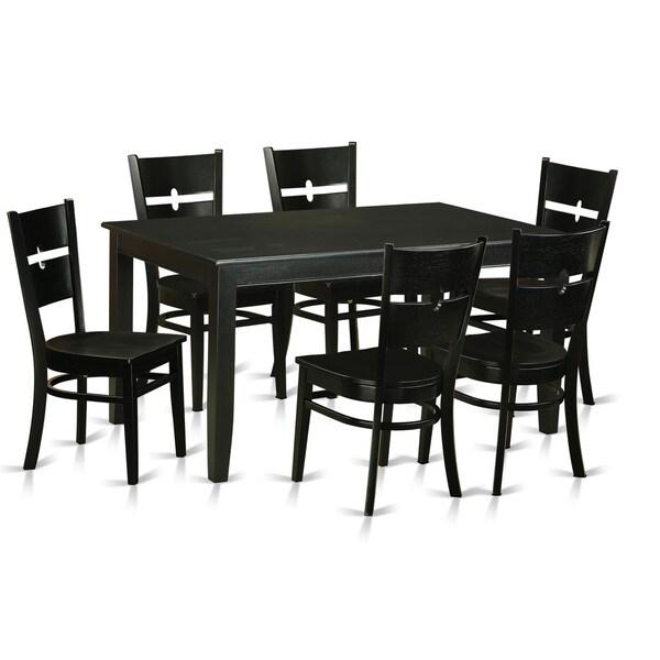 Kitchen Table For 6: Shop DURO7-BLK-W 7-piece Kitchen Dinette Table Set For 6