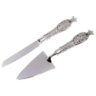 Unik Occasions Silver Cake Knife and Server Set