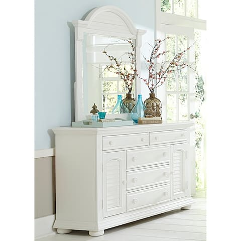 Summer House Oyster White Cottage Mirror