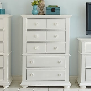Summer House Oyster White Cottage 5-Drawer Chest