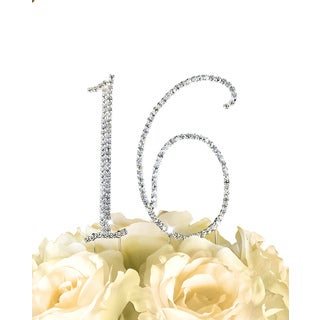 Collection Rhinestone Number Cake Toppers