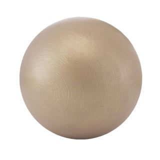 Modern Day Accents Hilos Gold Aluminum Decorative Ball