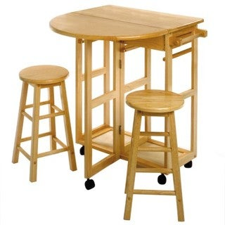 Winsome Wood 3-piece Space Saver Expandable Drop Leaf Table