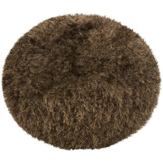 Chur 18-inch Round Polyester Pouf