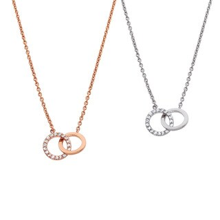 Eternally Haute Pave Circle Link Necklace