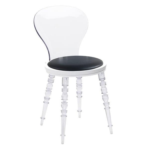 355c694ef61 Shop American Atelier Wynona Dark Grey Clear Plastic Chair - Free ...