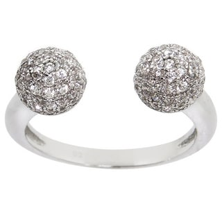 Eternally Haute Pave Disco Ball Ring - Silver