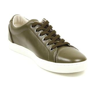Dolce & Gabbana Men's New Ru CS0924 A3444 80559 Green Leather Sneakers