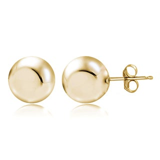 Mondevio Sterling Silver High Polished Ball Bead Stud Earrings