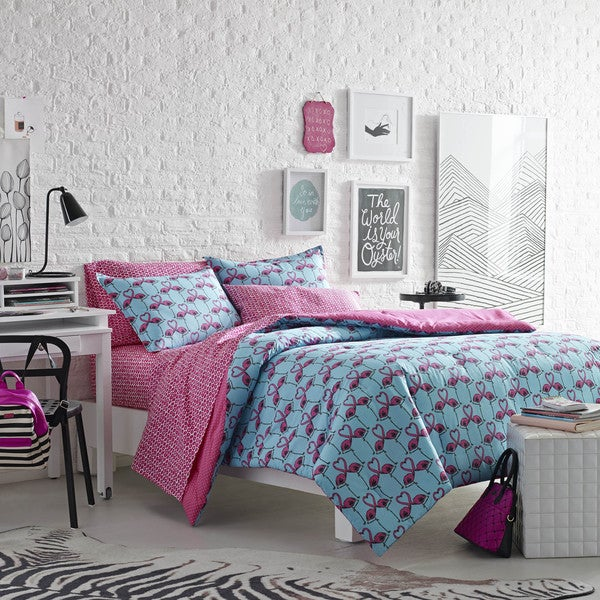 Betsey Johnson Love Birds 3-piece Comforter Set