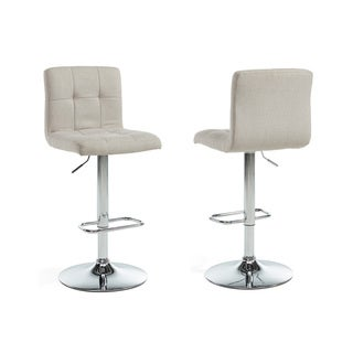 Maxy Adjustable-height Linen Stools (Set of 2)