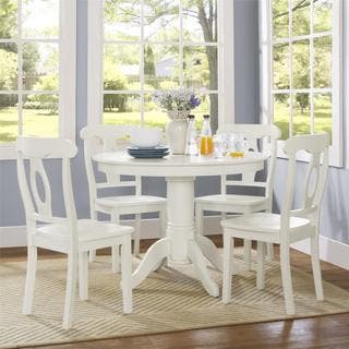 Avenue Greene Enfield 5 Piece Traditional Height Pedestal Dining Set