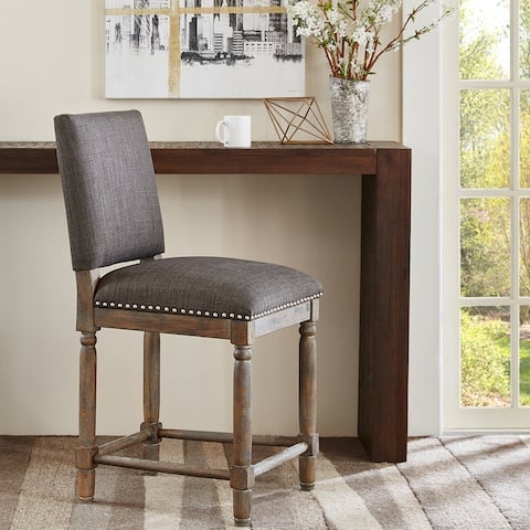 "Madison Park Kagen Grey/Reclaimed Grey Counter Stool - 19.25""w x 23""d x 40""h"