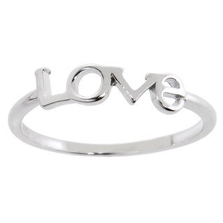 Eternally Haute Solid Sterling Silver Love Ring
