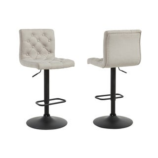 Strick & Bolton Sebastian Adjustable Button-tufted Stools (Set of 2)