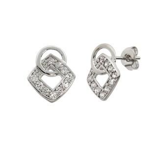 Eternally Haute Pave Cube Link Earrings