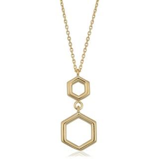 Fremada Italian 14k Yellow Gold Geometric Pendant Necklace (18 inches)