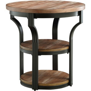 Geoff Oak and Black End Table