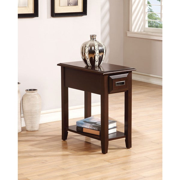 Flin Dark Cherry Side Table Free Shipping Today 12021407