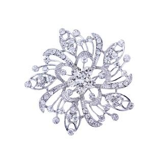 5043 Rhinestone Brooch - Silver
