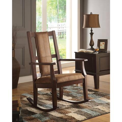 Copper Grove Sanvitalia Espresso Brown Rocking Chair