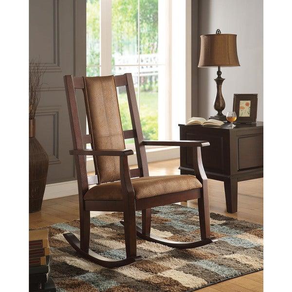 Copper Grove Sanvitalia Espresso Brown Rocking Chair. Opens flyout.