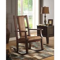 Pine Canopy Sanvitalia Espresso Brown Rocking Chair