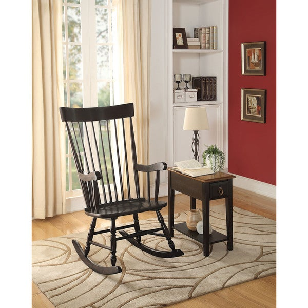 shop arlo black wood rocking chair free shipping today overstock