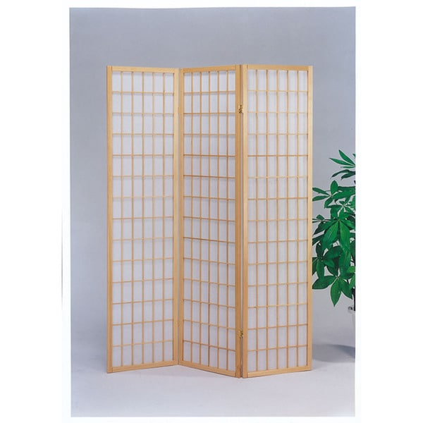 Shop naomi natural wood panel wooden screen free