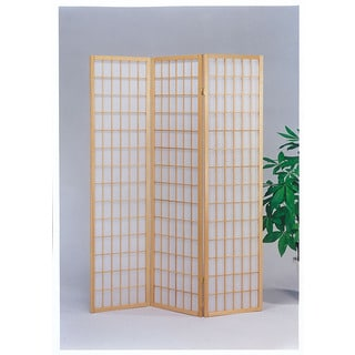 Naomi Natural Wood 3-panel Wooden Screen