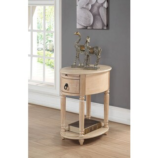 Peniel White Washed MDF/Veneer Side Table