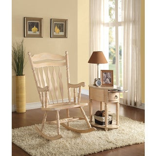 Kloris White-washed Wooden Rocking Chair
