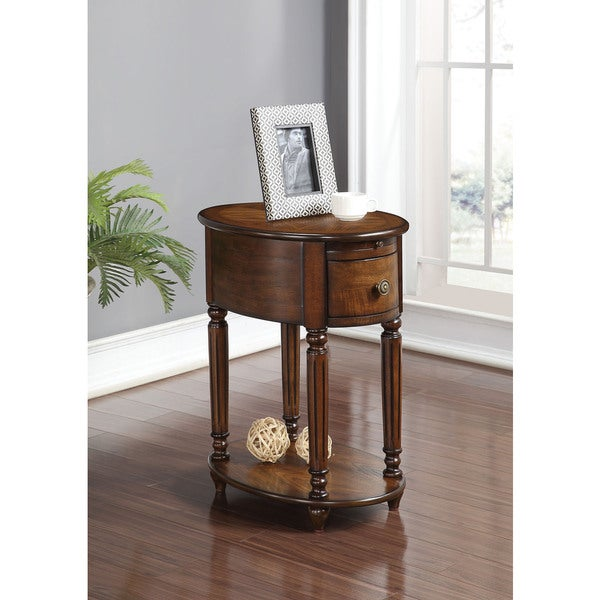 Shop Peniel Dark Oak Side Table Free Shipping Today Overstock