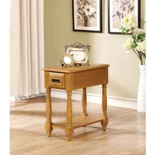 Qrabard Light Oak Side Table