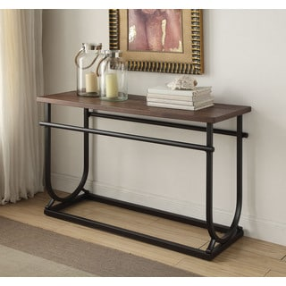 Debbie Cherry/Black MDF/Metal Sofa Table