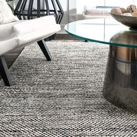 "nuLOOM Handmade Flatweave Contemporary Solid Cotton Grey Rug (9' x 12') - 8'6"" x 11'6"""