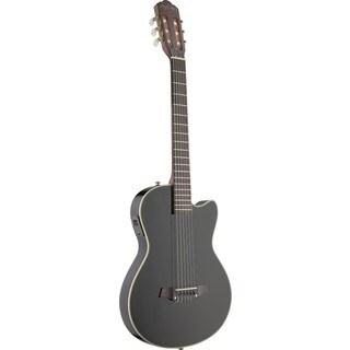 Angel Lopez EC3000CBK Black Spruce Electric Solid Body Cutaway Classical Guitar