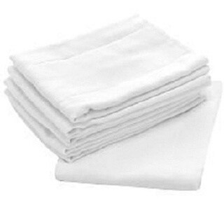 Birdseyes White100-percent Cotton 27-inch x 27-inch Flat Cloth Diapers (Pack of 48)