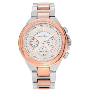 Journee Collection Women's Round Face Roman Numeral Link Watch
