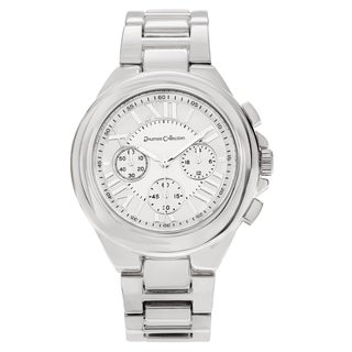 Journee Collection Women's Round Roman Numeral Dial Bracelet Watch