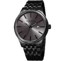 Akribos XXIV Men's Quartz Date Gray Stainless Steel Bracelet Watch