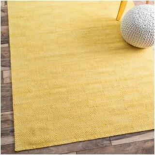 nuLOOM Handmade Flatweave Concentric Diamond Trellis Yellow Rug (8'6 x 11'6)