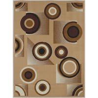LYKE Home Bullseye Brown Polypropylene Area Rug - 8' x 10'