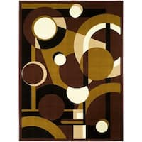 LYKE Home Dark Brown Polypropylene Area Rug - 8' x 10'