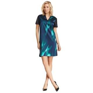 Elie Tahari Women's Kellan Blue Silk Dress