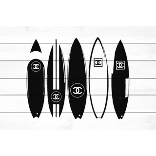 Marmont Hill 'Chanel Surfboards' Painting Print on White Wood