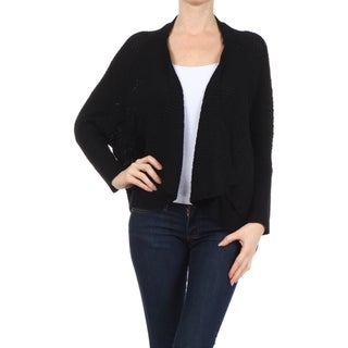 MOA Collection Women's Cable-knit Cardigan